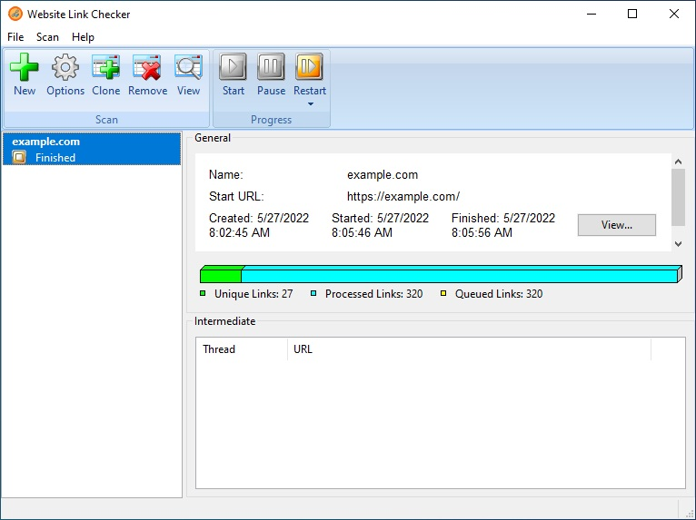 Fast Link Checker x64 Edition screenshot: link checker, link validator, webpage link checker, link, broken, check, checking, site, web, links, search, website, find, invalid, unavailable